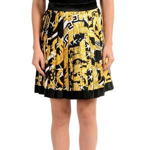 Versace Women's Savage Barocco Print Silk Skirt
